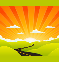 Heaven road vector