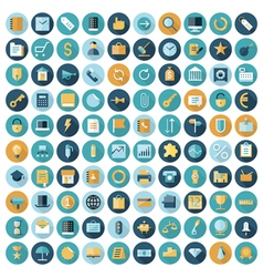 Icons flat line business vector