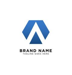 initial a logo design inspiration vector image