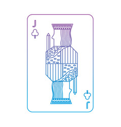 Jack of clover or clubs french playing cards vector