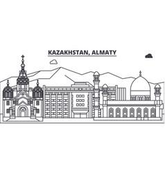 Kazakhstan almaty line skyline vector
