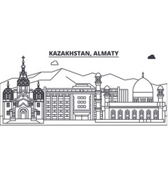 kazakhstan almaty line skyline vector image
