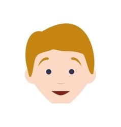 Kid boy avatar head person icon graphic vector
