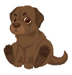 Kid labrador icon cartoon style vector