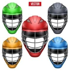lacrosse helmets set front view vector image