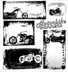 Motor bike grunge banners vector