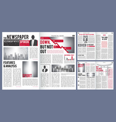 Newspaper template print design layout of vector
