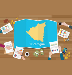 Nicaragua economy country growth nation team vector