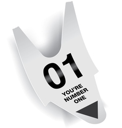 Number 1 Ticket Concept vector image