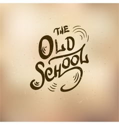 old schol vector image
