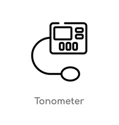 Outline tonometer icon isolated black simple line vector