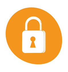 padlock security system technology image vector image