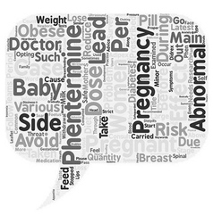 Phentermine and Pregnancy Is Phentermine Safe For vector image
