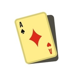 Playing card icon flat style vector