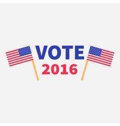 President election day 2016 Voting concept Two vector