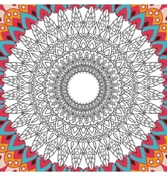 Printable coloring book page for adults - mandala vector