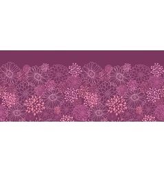 Purple field flowers horizontal seamless pattern vector image