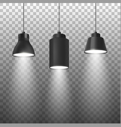 realistic 3d black spotlights or hang vector image