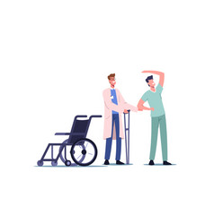 Rehabilitating physical activity orthopedic vector