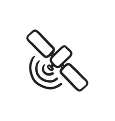 Satellite sketch icon vector