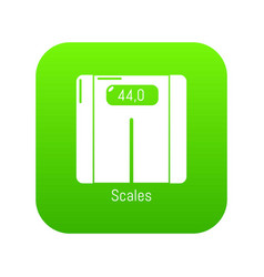 scales icon green vector image