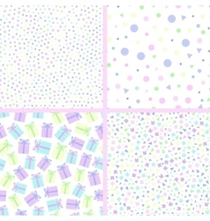 seamless pattern dots vector image