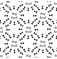 seamless pattern with bone for dog vector image