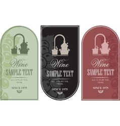 Set label for wine vector