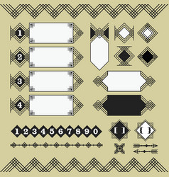 Set of black parallel lines design elements icons vector
