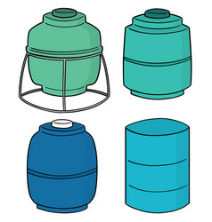 set of water storage tank vector image