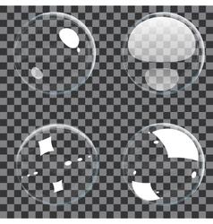 Set transparent bubbles vector