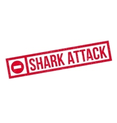 Shark Attack rubber stamp vector image