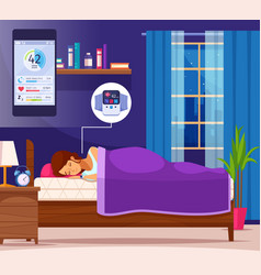 sleeping nice flat composition vector image