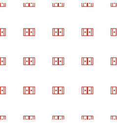 Sliding doors icon pattern seamless white vector
