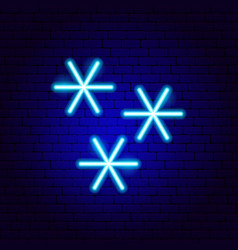 snowflakes neon sign vector image