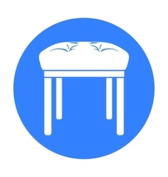 Stool icon in black style isolated on white vector image