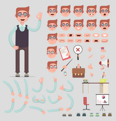 Symbol of a man for creating scenes vector