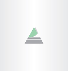 Triangle icon letter a logo vector