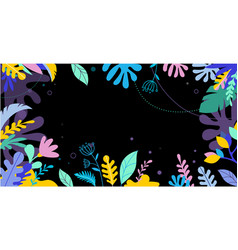 Tropical jungle foliage vector