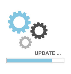 update icon concept in flat style vector image