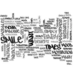 What my baby taught me text word cloud concept vector