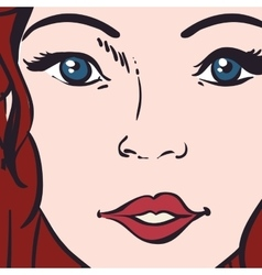Woman pop art female avatar retro icon vector image