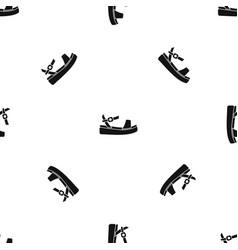 women sandale pattern seamless black vector image