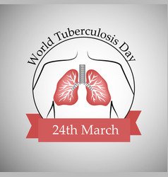 World tuberculosis day vector