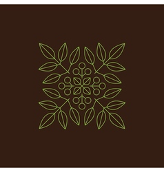 Floral Element Linear Style Line Art vector image