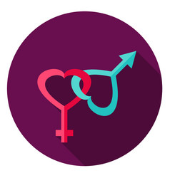 gender circle icon vector image vector image