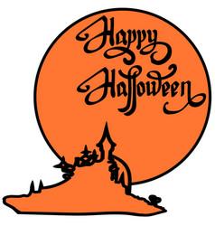 happy halloween design elements halloween design vector image