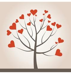 Love tree3 vector image vector image