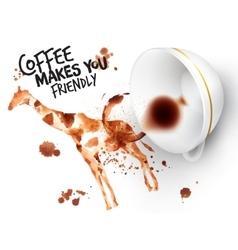 Poster wild coffee giraffe vector image vector image