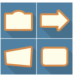 Retro Frames with Lights vector image vector image